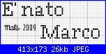 """Richiesta frase """" E' nato Marco"""" in vari font....-nato-marco-3-jpg"""