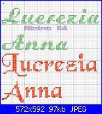 Nomi in vari tipi di corsivo: *  Lucrezia e Anna*.......-anna1-jpg