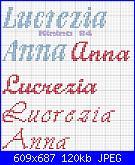 Nomi in vari tipi di corsivo: *  Lucrezia e Anna*.......-anna2-jpg