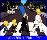 Schema Simpson per quadro-the_simpsons_as_the_beatles_wall-jpg