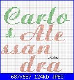 nomi punto croce * Carlos e Alessandra*-c-1-jpg