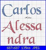nomi punto croce * Carlos e Alessandra*-c-2-jpg