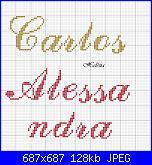 nomi punto croce * Carlos e Alessandra*-c-3-jpg