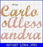nomi punto croce * Carlos e Alessandra*-c-4-jpg
