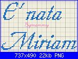 Scritta per fiocco * E' nata Miriam*-immagine-png