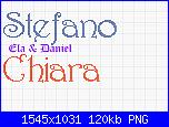 Richiesta nomi *Giorgia* e con il font harrington *Stefano e Chiara*-stefano-e-chiara-png