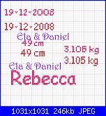 Scrivere * Rebecca* peso, altezza e data-rebecca-jpg
