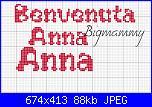 Benvenuta Anna con font flubber-benvenuta-anna-flubber-jpg