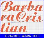 Richiesta  nomi * Barbara e Cristian* con questo font.....-barbara-cristian-jpg