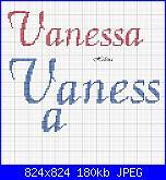 schema nome  * Vanessa* e viso di Hello Kitty-v-calligraphy-jpg
