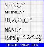 Scritta * Nancy * 38x10-f-jpg