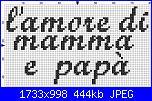"""La lettera p del fiocco """"L'amore di mamma e papà""""-amore2-jpg"""