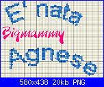 scritta * E' nata Agnese*-nata-agnese-1-png