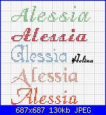 Bavaglino per battesimo  * Nome Alessia*-alessia1-jpg