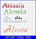 Bavaglino per battesimo  * Nome Alessia*-alessia2-jpg