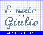 Scritte  per fiocco:  * E' nato Giulio è nata Caterina*-giulio-jpg