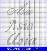 per lidiatara1 nome * Ilaria* font Monotype corsivo...-asia-jpg
