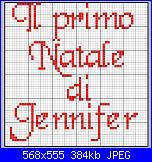 """scritta per bavaglia: .""""il primo natale di jennifer""""-jennifer_1-jpg"""