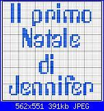 """scritta per bavaglia: .""""il primo natale di jennifer""""-jennifer_2-jpg"""