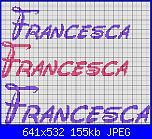 Nome * Francesca* in vari modi-francesca-waltograph-script-jpg