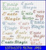 scritta...é nato * Biagio*-biagio-jpg