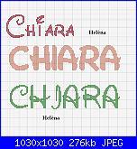 x hèlena chiedo scritta nome *Chiara*con alfabeto Walt Disney-chiara-jpg