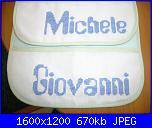 Per Natalia:fizzy moon per bavette con la scritta giovanni e michele-dscn5302-jpg