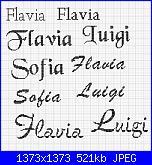 "Schema * Flavia"" ""Luigi"" ""Sofia*-nomi-jpg"