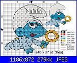 baby puffo max 22 quadretti di altezza - per Natalia-puffo-baby-jpg