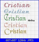 Nome * Cristian o Christian * per caramella di tela aida ......-cri1-jpg
