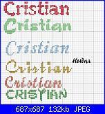 Nome * Cristian o Christian * per caramella di tela aida ......-cri2-jpg
