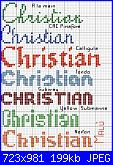 Nome * Cristian o Christian * per caramella di tela aida ......-christian-jpg