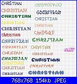 Nome * Cristian o Christian * per caramella di tela aida ......-aaa-jpg