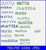 richiesta scritta nome * Mattia* per bavaglino-mattia-jpg