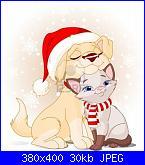 Per baby1264,cane e gatto natalizi-5964959-cute-del-cane-con-cappello-di-babbo-natale-e-gatto-con-sciarpa-jpg