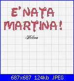 Scritta * E' nata Martina*-martina-jpg