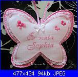 Scritta E' nata Sophia-coccarda-fiocco-nascita-farfalla-per-sophia-jpg