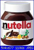 Scritta verticale I love Nutella + barattolo-nutella-jpg