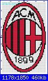 Scudetto Milan-schema-punto-croce-stemma-milan-52x84-blocchi-colorati-jpg