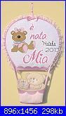Scritta E' nata Mia-mia-fiocco-jpg
