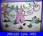Quadretto nascita in 3d e punto croce-images-jpg
