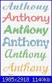 Scritta E' nato Anthony-anthony-jpg