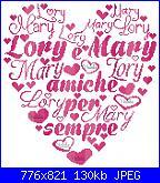 Per Natalia: schema fizzy con cuori nome Lorenzo-lory-mary-amiche-per-sempre-150x159-jpg