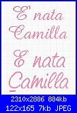 Nome Nicole e Melania-%E8-nata-camilla-jpg