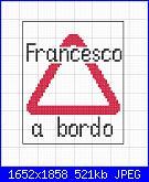 Triangolo e scritta Francesco a bordo-francesco-bordo-jpg