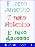 Frase per fiocco nascita-%E8-nato-antonino-jpg
