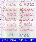Scritta E' nata Luana-e_-nata-luana-jpg