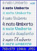 Fiocco a forma di stella + è nato Umberto-umberto-jpg