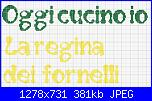 """Scritte: """"sono la regina della cucina"""", """"oggi cucino io"""", """"la regina dei fornelli""""...-scritta-2-jpg"""