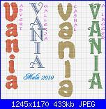 nomi in verticale:Vania - Antonella- Giada -Nisa-Tatiana -Martina -Jessica - Jennifer-vania-jpg